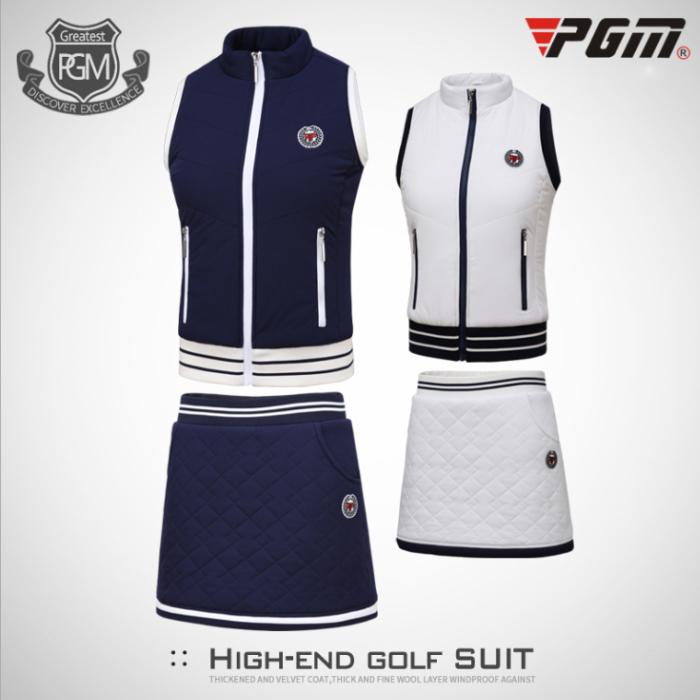 ゴルフウェア レディース ゴルフウェア ベスト スカート レディース 暖 綺麗 ホワイト 白 ネイビー 紺 レディース ゴルフグッズ レディースゴルフウェア ゴルフ用品 可愛い 上下セット 秋 冬 スカートインナー付きS M L XL