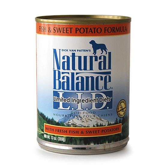 ナチュラルバランス スウィートポテト&フィッシュ缶 369g×24缶