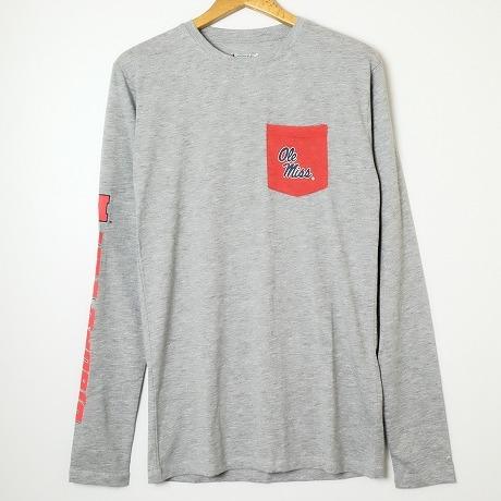 8cc983d85d7d ☆Regular article ☆ sleeve print / college long sleeves T-shirt Ole Miss is  ...