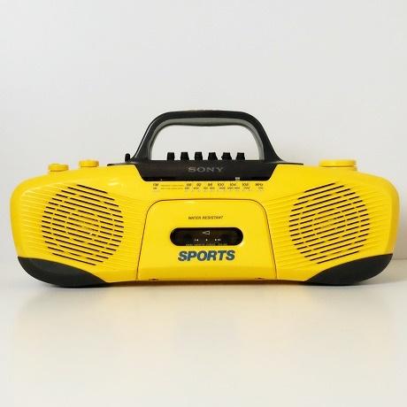 【中古】SONY SPORTS【ソニースポーツ】海外買い付け・直輸入CASSETTE PLAYER カセットプレイヤーラジカセ イエローxブラック CFS-902