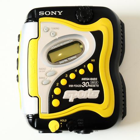 【中古】SONY SPORTS【ソニースポーツ】海外買い付け・直輸入CASSETTE WALKMANカセットウォークマンWM-FS220