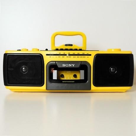 【中古】SONY SPORTS【ソニースポーツ】海外買い付け・直輸入CASSETTE PLAYER カセットプレイヤーラジカセ イエローxブラック CFS-920