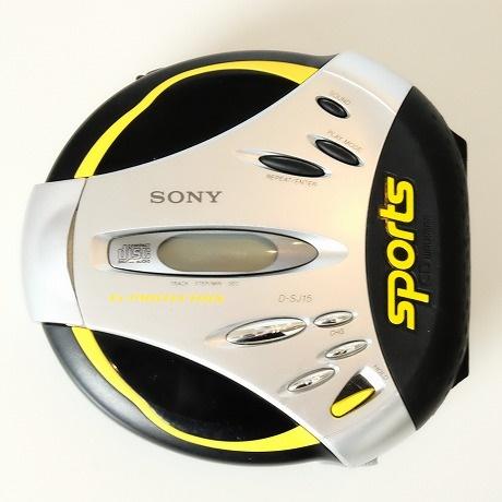 【中古】SONY SPORTS【ソニースポーツ】海外買い付け・直輸入DISCMAN・ディスクマンCDウォークマングレーxブラック DSJ-15