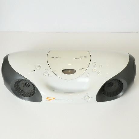 【中古】SONY SPORTS【ソニースポーツ】海外買い付け・直輸入CD CASSETTE PLAYER カセットプレイヤーCD ラジカセ ホワイトxグレー ZS-X10