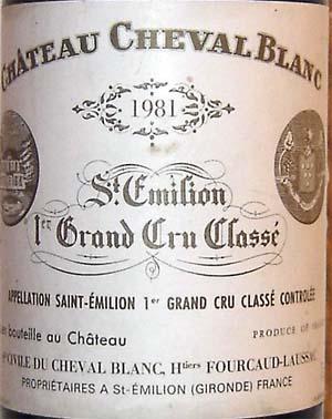 1981シュヴァルブランCh. Cheval Blanc
