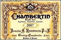 1989シャンベルタン Chambertin アルマン・ルソーArman Rousseau