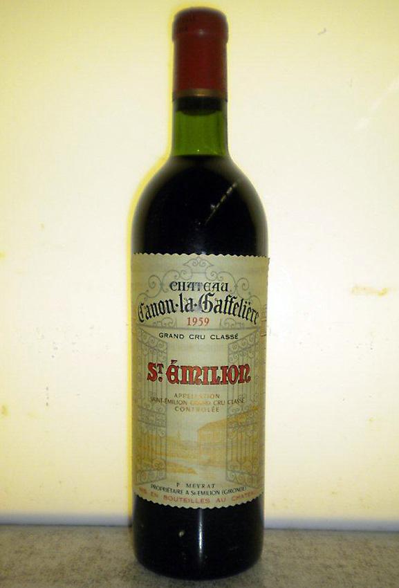 1959 キャノン ラ ガフリエールSt.Emilion