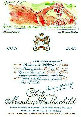 1963 シャトウムートンロートシルドMouton Rothschild