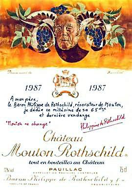 1987 シャトウムートンロートシルドMouton Rothschild