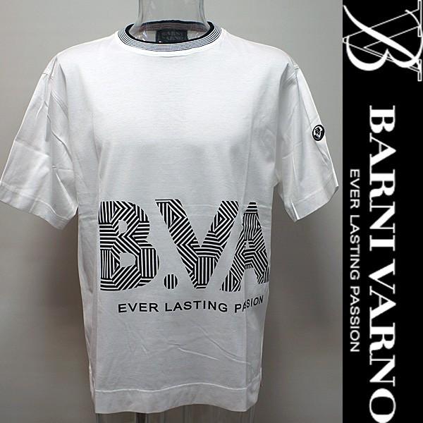 SALE(50%OFF)BARNI VARNO・17 春夏 SS 新作・半袖Tシャツ(L)BSS-GTH2439-L-01s バーニヴァーノ