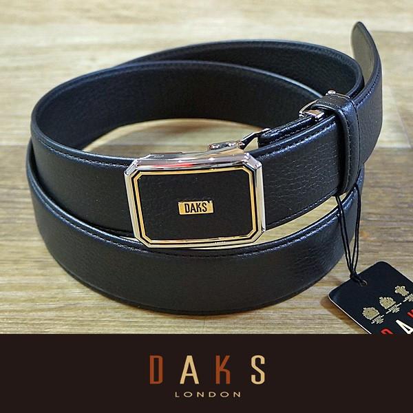 DAKS ダックス ベルト バックル式 スライド式 牛革 DB25910-01 日本製