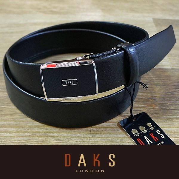 DAKS ダックス ベルト バックル式 スライド式 牛革 一本無双 DB28142-01 日本製
