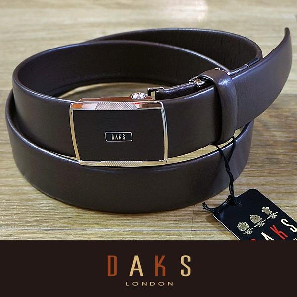 DAKS ダックス ベルト バックル式 スライド式 牛革 一本無双 DB28142-02 日本製