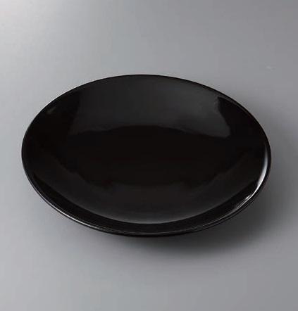 有田焼 黒釉12号皿