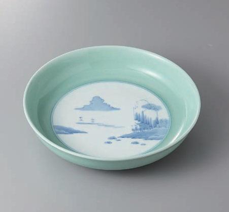 有田焼 青磁内山水10号鉦鉢