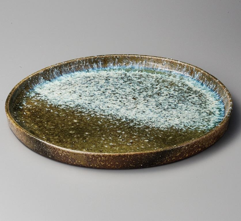 ビードロ窯変15.0皿鉢 信楽焼