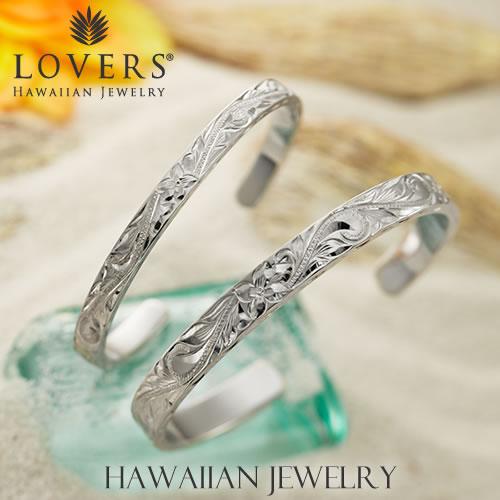 ハワイアンジュエリー ペアバングル AquaBelle LOVERS CLB-8-6 シルバー925 誕生日 サプライズ プレゼント 結婚記念日 記念日 送料無料