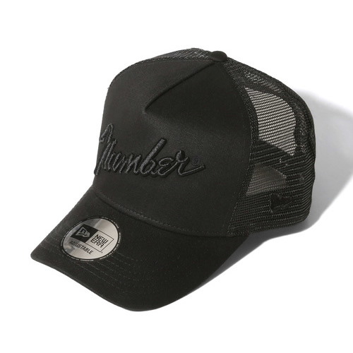 NUMBER N INE×NEW ERA_number9_MESH CAP BLACK×BLACK キャップ 帽子 ナンバーナイン×ニューエラ プレゼント メンズ asrk ロゴ ナンバーナイン 最安値に挑戦 プロスタイリスト石黒亮一氏セレクション メッシュキャップ 宅送 人気ブランド
