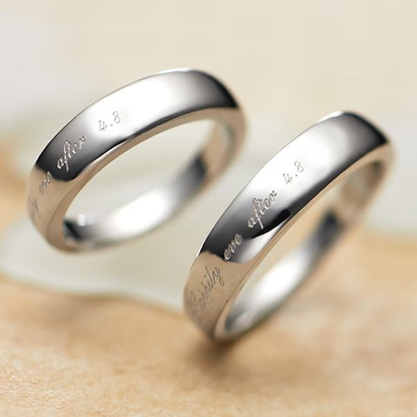 Semi Order Pair 1 Ring Size 30 003 R K Op Engraved Free