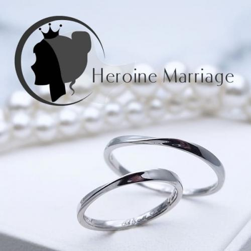 結婚指輪 プラチナ ペア ヒロインマリッジ セミオーダーメイド HM001R-KS (SU) 1号~30号 ステンレス マリッジリング 刻印無料 偶数号 ハーフサイズ 指輪 婚約 プロポーズ 入籍記念 カップル お揃い ペアルック 記念日 誕生日 プレゼント 結婚記念 送料無料