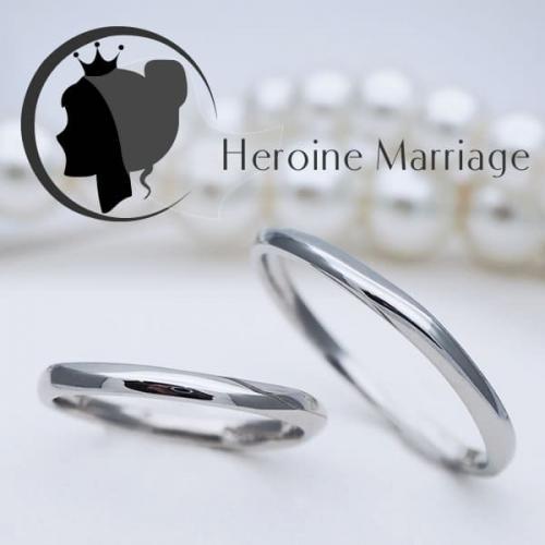 結婚指輪 プラチナ ペア ヒロインマリッジ セミオーダーメイド HM005R-KS (SU) 1号~30号 ステンレス マリッジリング 刻印無料 偶数号 ハーフサイズ 指輪 婚約 プロポーズ 入籍記念 カップル お揃い ペアルック 記念日 誕生日 プレゼント 結婚記念 送料無料