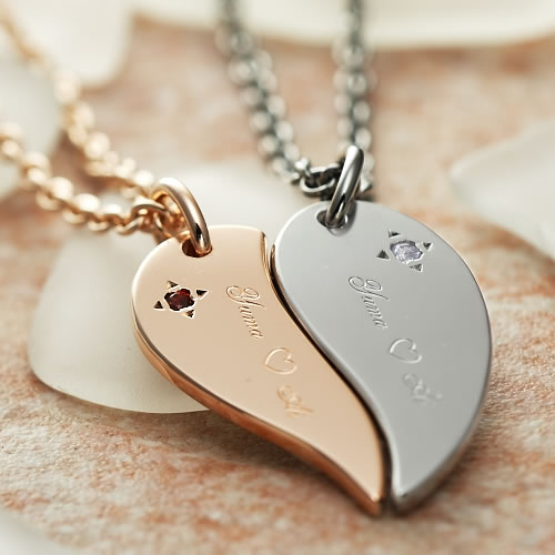 Pendant Simple Design Silver 925 Boyfriend His Woman Engaging Couple Married Memorial Day Birthday Gift Lover Matching Together Flawlessly