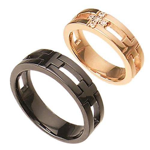 ペアリング 指輪 ペア 人気 ブランド WithMe ウィズミー クロスペアリング 95-2020pg-2021b (WITH3-5) ピンクゴールド ブラック コーティング 指輪 カップル ペアルック プレゼント 7号 9号 13号 15号 17号 21号 23号 誕生日 記念日 送料無料