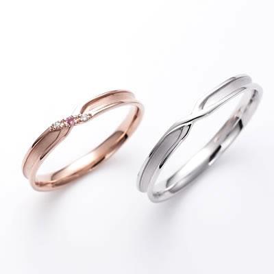 結婚指輪 マリッジリング ペアリング K10 ゴールド 刻印無料 LSR0661PK-WG K10 10K Lovers & Ring True Love ゴールド ペアリング ペア指輪 マリッジリング 彼氏 彼女 プロポーズ ピンクゴールド ホワイトゴールド マリキャン 送料無料 2本セット