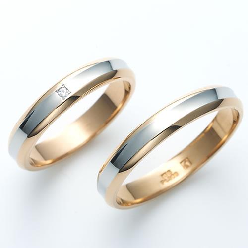 Beautiful Wedding Ring Pt900 Platinum K18 Gold Rings Engraved Free Pairing Destiny Premium