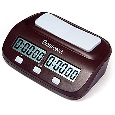 : Basicest Basicest 対局時計 デジタル表示 チェスクロック 将棋 / 囲碁 / チェスに試合適用 ダウンタイマーとウントアップタイマーに使用できる