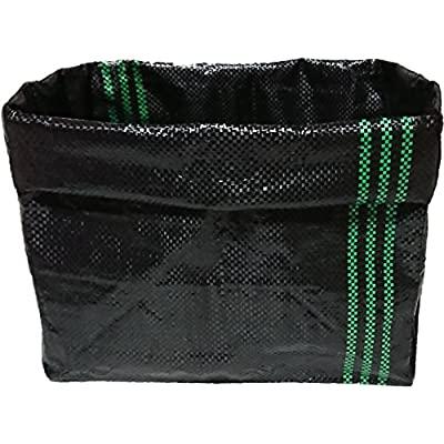 : アプール メッシュ栽培袋UV黒PE 10枚 花・野菜のコンテナ 根の環境を助長した通気性・通水性・ 高さ自在調整