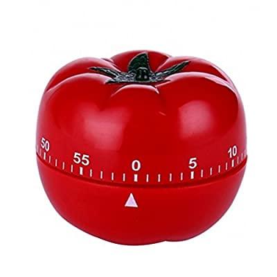 : PQZATX 1-60分 360度 ファッション 屋内 キッチン実用トマト機械式カウントダウン タイマー 予約 お金を節約 かわいい