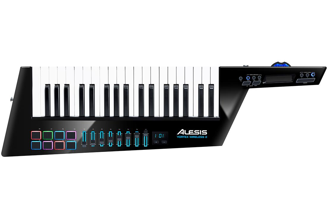 【公式 / 送料無料】Alesis ワイヤレスUSB/MIDI ショルダーキーボード・コントローラー 加速度センサー搭載 Vortex Wireless 2