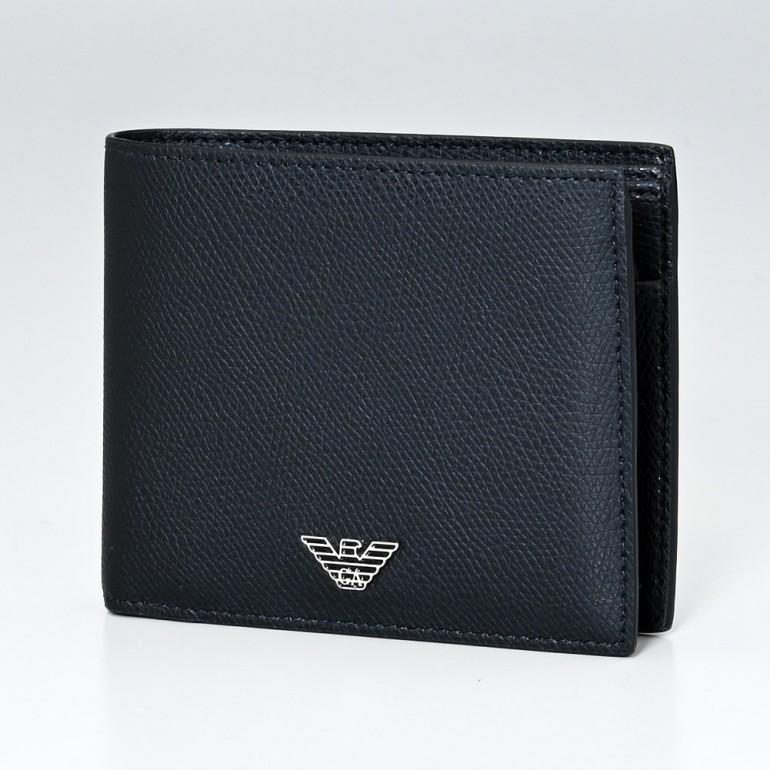 エンポリオ アルマーニ 2つ折財布 EMPORIO ARMANI メンズ ブラック YEM122 YAQ2E 81072