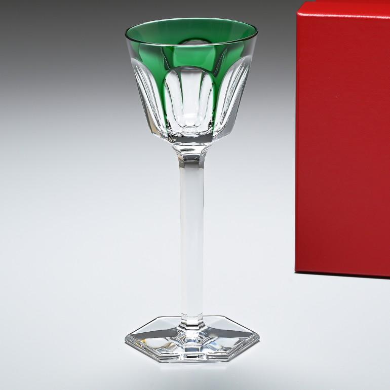【スーパーSALE10%OFF】バカラ Baccarat アルクール HARCOURT ワイングラス ライン RHINE グリーン 19cm 1201136
