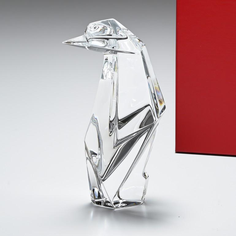 バカラ クリスタルフィギュア オリガミ ペンギン 置物 インテリア 1762693 父の日
