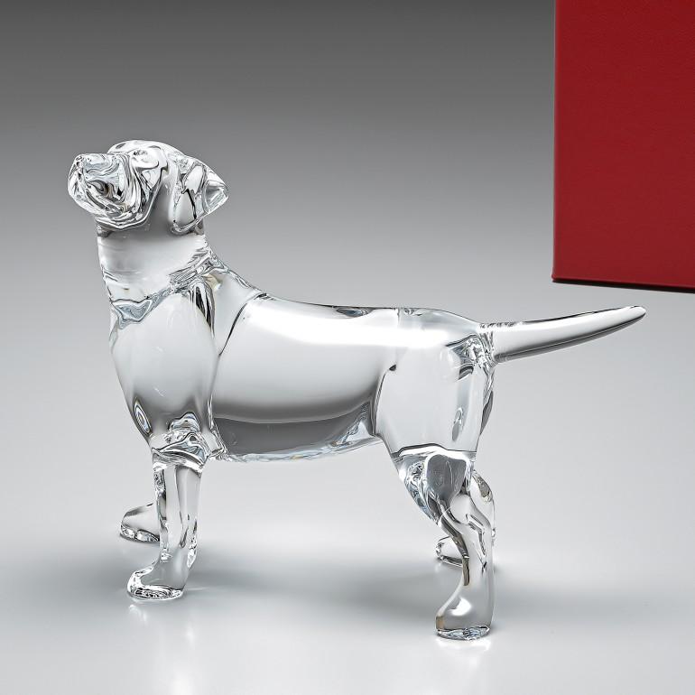 【MAX3000円OFFクーポン配布中】廃盤 モデル バカラ Baccarat クリスタル フィギュア 犬 シアン ラブラドール 2102691