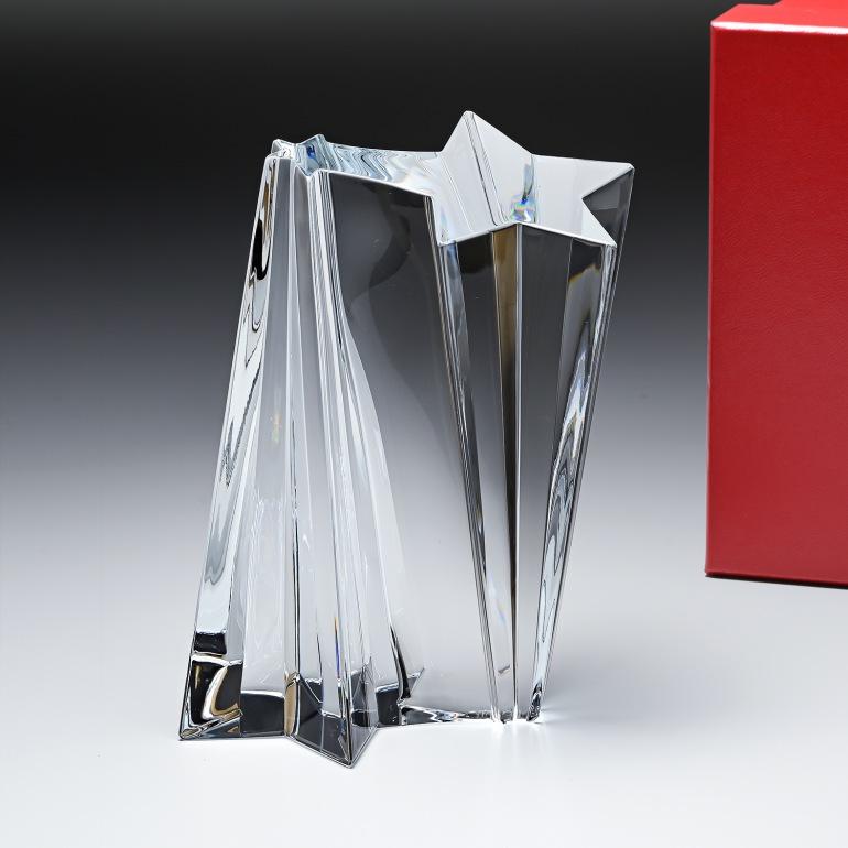 バカラ クリスタルオブジェ ブロック シューティングスター 流れ星 置物 インテリア 2106020
