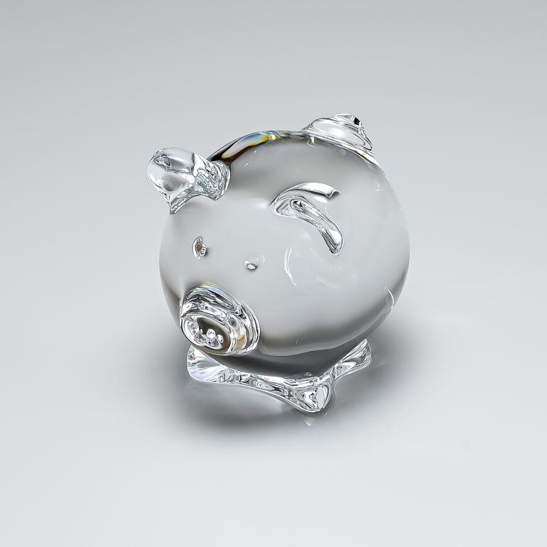 【マラソンタイムセール20%OFF】バカラ Baccarat フィギュア 廃盤モデル 豚 ミニマルズ コション ピッグ インテリア 置物 オブジェ 2106353
