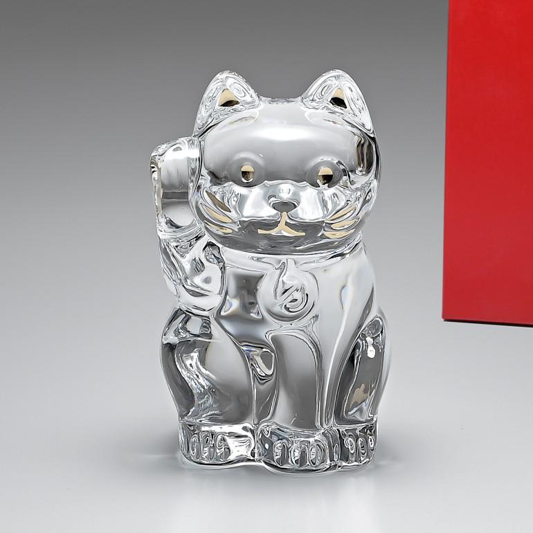 【MAX3000円OFFクーポン配布中】バカラ Baccarat 招き猫 フィギュア オーナメント クリア 2607786