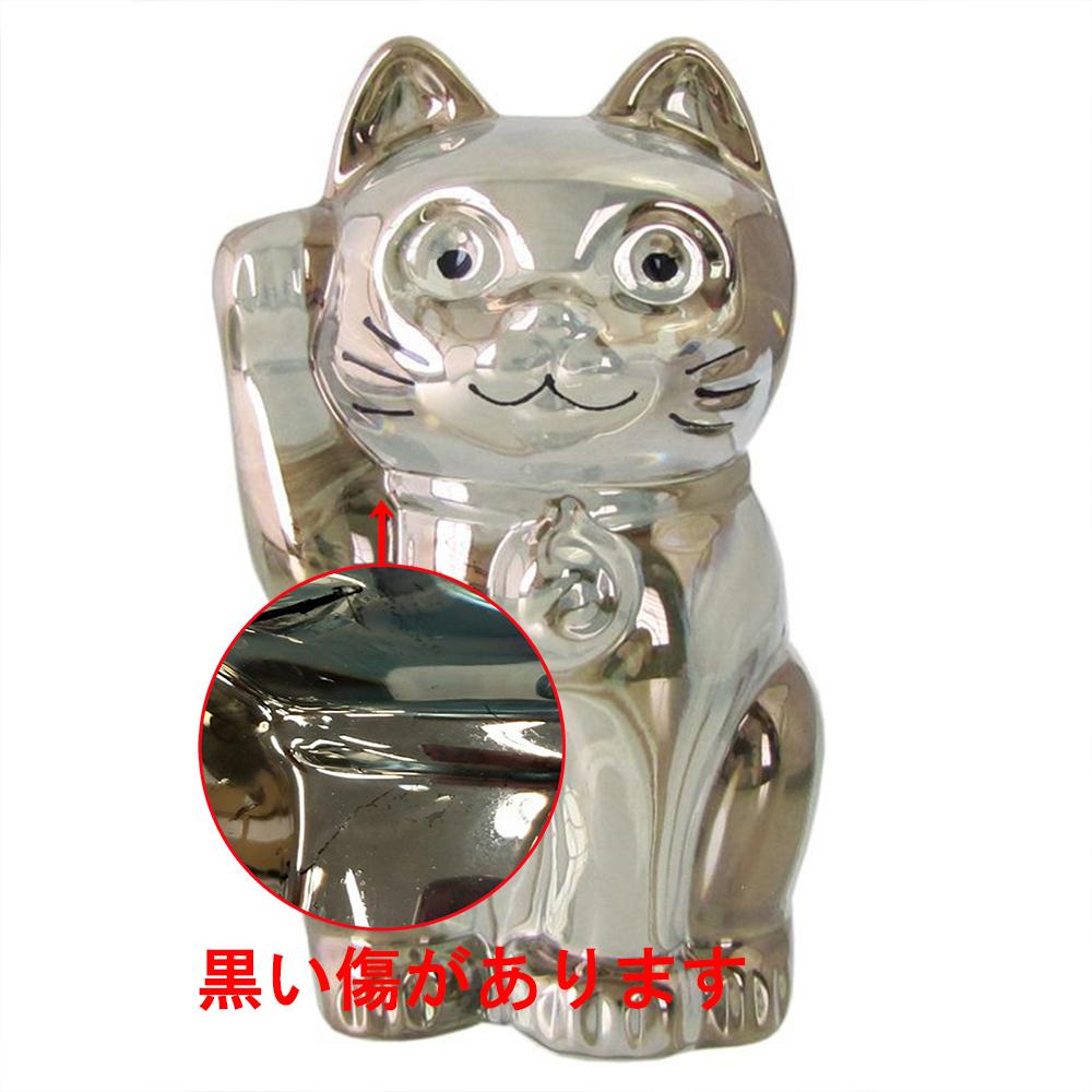 【訳あり】バカラ Baccarat フィギュア オーナメント 招き猫 ゴールド 2612997 wk-475
