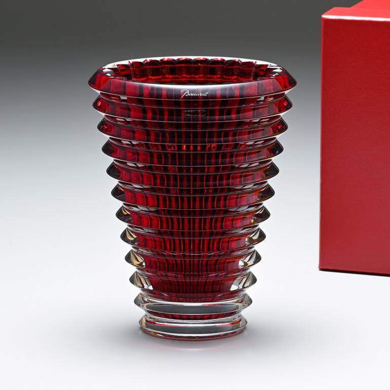 バカラ ベース Baccarat 花瓶 アイ 14.5cm Sサイズ EYE レッド 2807199