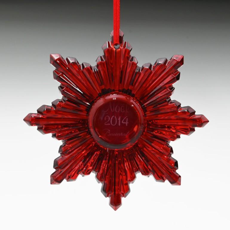 バカラ Baccarat オーナメント ノエル 2014年 クリスマス レッドミラー 2808392