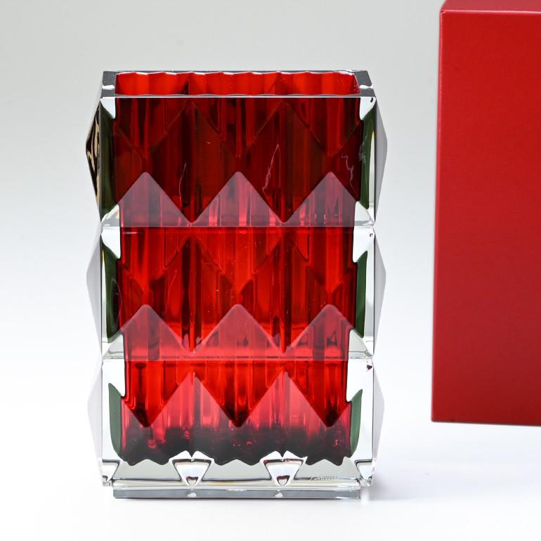 バカラ ベース 花瓶 ルクソール LOUXOR レッド 20cm 2808408