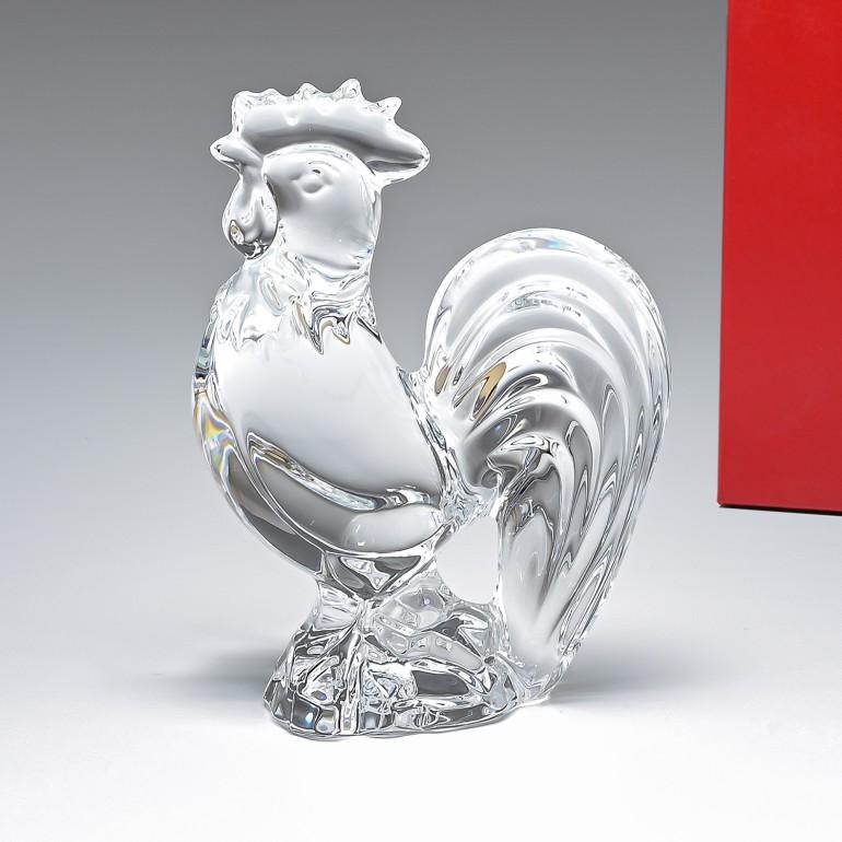 バカラ Baccarat クリスタル フィギュア ゾディアック 2017年 ROOSTER ルースター クリア 干支 酉 鳥 鶏 2810263