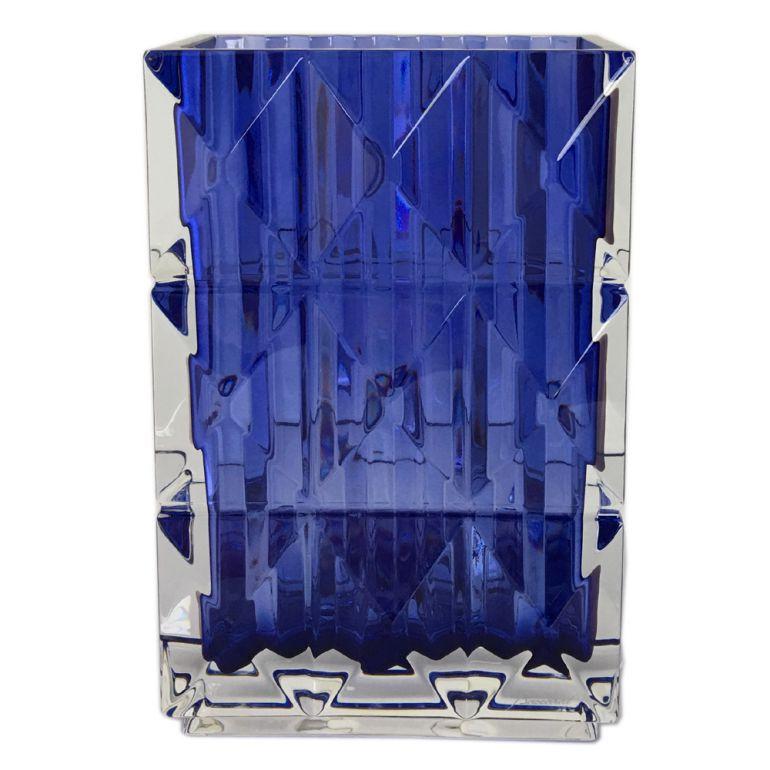 バカラ Baccarat BLUE EYES ブルーアイズ ベース 花瓶 ルクソール LOUXOR ブルー 20cm 2811094