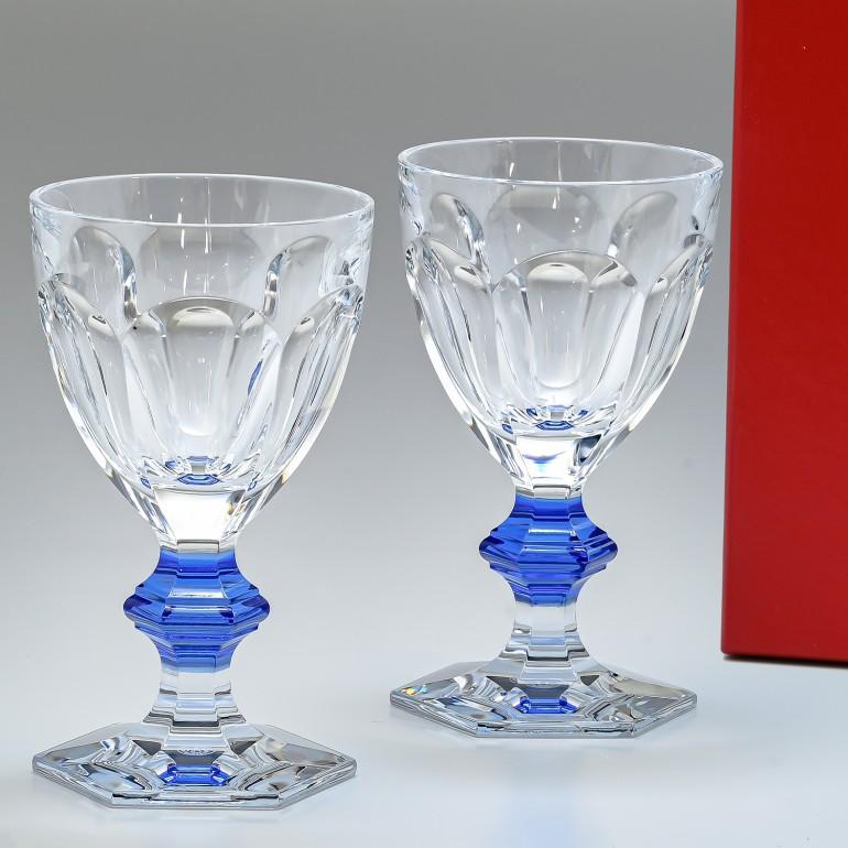 バカラ Baccarat グラス ペア アルクール ブルーボタン ワイングラス HARCOURT 2811102 父の日