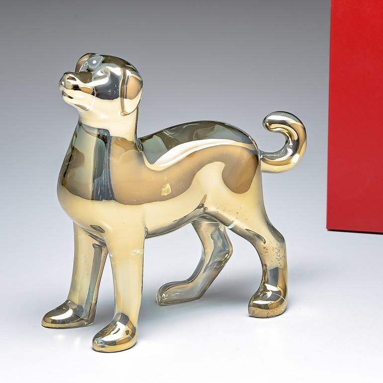 バカラ Baccarat クリスタル フィギュア ゾディアック 2018年 DOG ドッグ ゴールド 干支 戌 犬 2811251 父の日