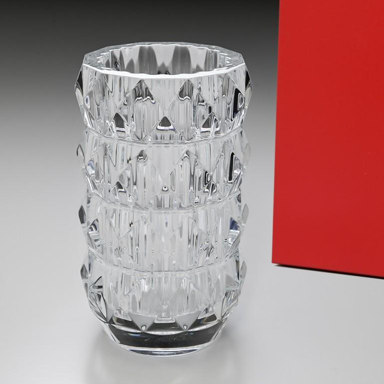 バカラ ベース 花瓶 ルクソール LOUXOR ラウンド クリア 23cm 2811534