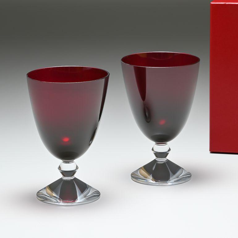 バカラ Baccarat グラス ワイングラス ベガ スモールグラス レッド ペア 高さ14cm 2812265